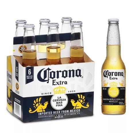 Imagem de Cerveja Corona Extra 355ml Pack (06 unidades)