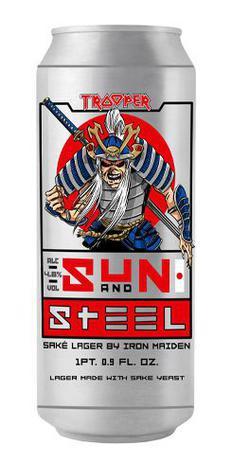 Imagem de Cerveja trooper iron maiden sun and steel sake lager 500ml