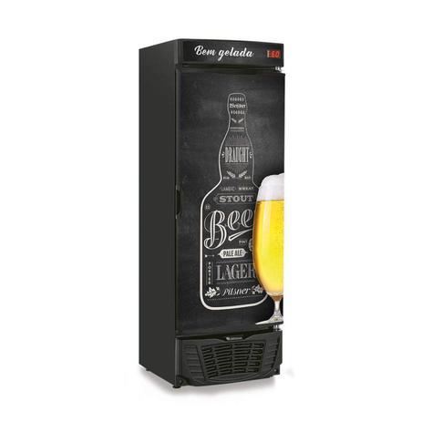 Imagem de Cervejeira Porta com Adesivo 450L Profissional Gelopar 127V Preto