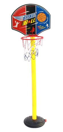 Imagem de Cesta de Basquete Infantil Completa Tabela Base Estrutura Bola Inflador BW037