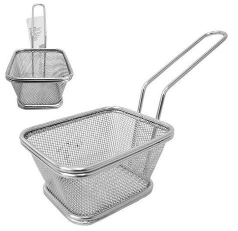 Imagem de Cesta para batata frita e porções com cabo de inox 21,5x9x6,3cm