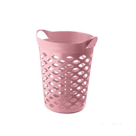 Imagem de Cesto organizador circular 44L plástico rosa quartz Sanremo