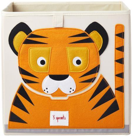 Imagem de Cesto organizador quadrado - tigre - 3 sprouts