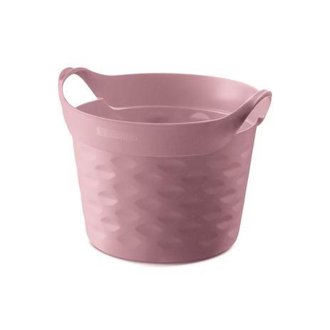 Imagem de Cesto Organizador Redondo em Plástico 3 Litros Rosa