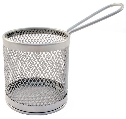 Imagem de Cesto para fritura em inox com alça para servir porções 8cm