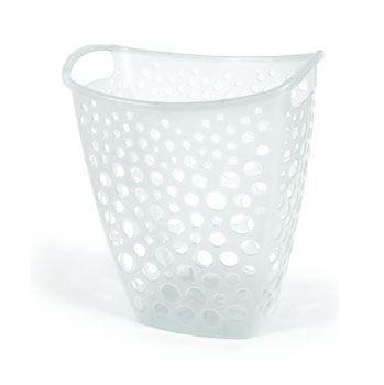 Imagem de Cesto telado para roupas transparente - 8 litros