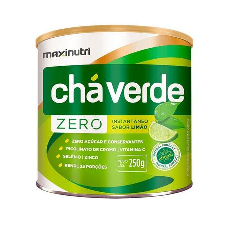 Imagem de Chá Verde Solúvel Limão Zero - 250 gramas - Maxinutri