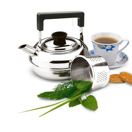 Imagem de Chaleira Aço Inox 1 Litro com Coador para Chá