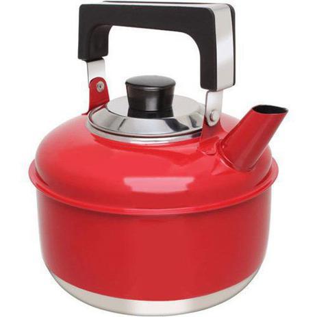 Imagem de Chaleira Inox 2 Litros Colors Vermelha Ravinox