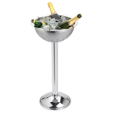 Imagem de Champagneira Inox com Pedestal e Grelha Separadora Destacável 8 Litros 3 Garrafas Forma
