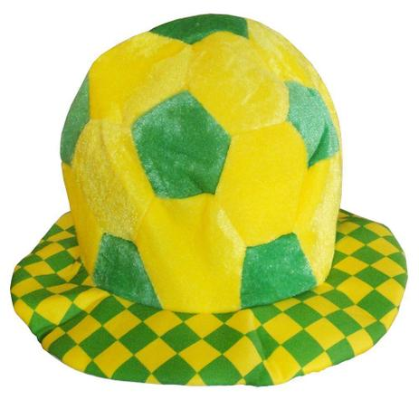 Chapéu Bola Torcida do Brasil Copa do Mundo QMM-005 - Xl - Artigos ... 1d0ed282b5a