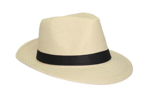 Chapéu Moda Panamá Palha Casual Praia - Tnc - Boné e Chapéu de Pesca ... 7b53cd47862