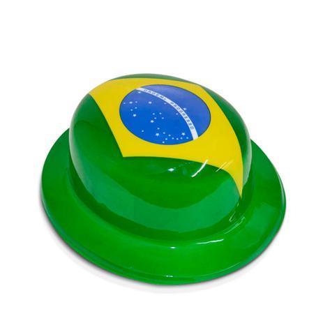 Chapéu Plástico Coquinho Bandeira Única Verde e Amarelo Brasil - Festabox 43ba61de67