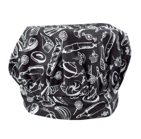 Chapéu touca de cozinheira preto e branco - Recanto da costura ... a28eb25d993