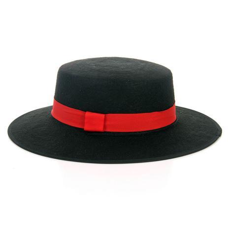 Chapéu Zorro - Preto com Vermelho - - - Magazine Luiza 4074f9da8ff