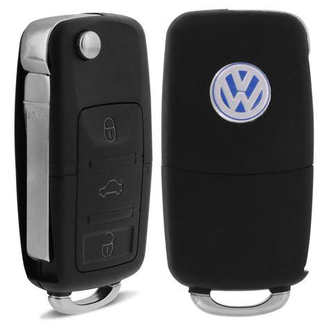 Imagem de Chave Canivete Volkswagen G4 2009 A 2014 Gol G5 2009 A 2012 Fox 2009 A 2015 Polo Hatch Sedan 09 A 14