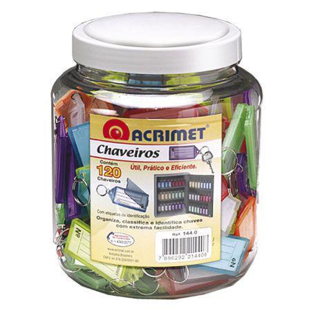 Imagem de Chaveiro com etiqueta pote - com 120 unidades - 144.0 - Acrimet