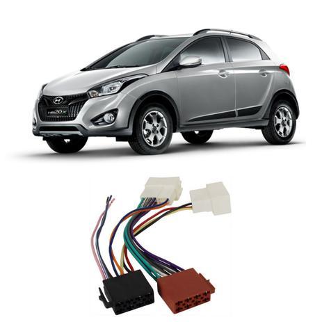 Imagem de Chicote Hyundai HB20x 2012 a 2020 Adaptador Rádio DVD CD Multimídia