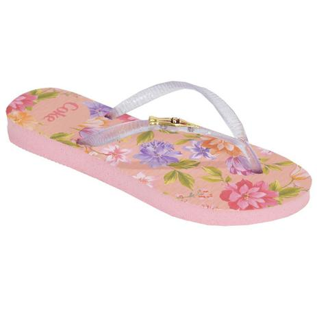 840671d73 Chinelo Feminino Blooming - Coca Cola Shoes Rosa Claro - Chinelo ...