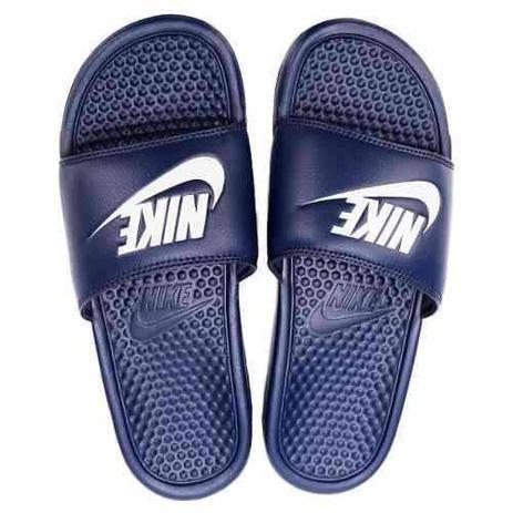 58b78bb40b50e Chinelo Nike Benassi Just Do It Masculino - Azul - Chinelo ...