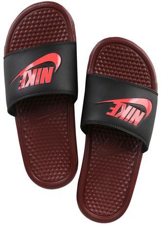 385dd13ad0bb5 Chinelo Nike Benassi Just Do It Vinho e Preto - Chinelo Masculino ...