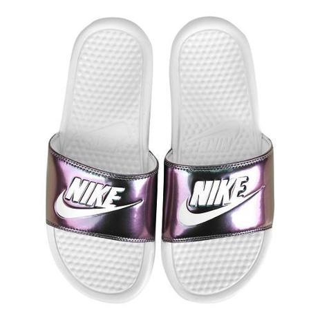 Chinelo Nike Just Do It Print Feminino Branco
