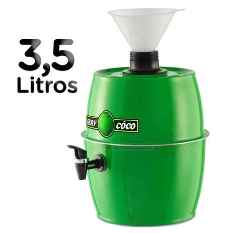Imagem de Chopeira Água de Coco Gelada Serv Coco 3,5 Litros com Funil