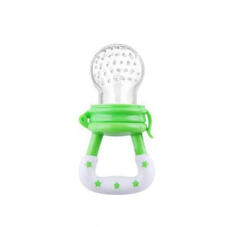 Imagem de Chupeta Alimentadora  Bico Silicone para Bebê Frutas verde