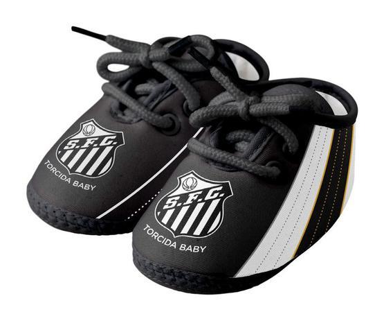 Chuteira Bebê Santos Preta - Torcida Baby - Calçados para Bebês e ... 5f600325951d2