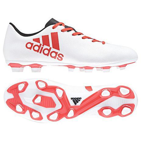 b6af5d3156 Chuteira Campo Adidas X 17.4 FXG - Branco e Vermelho - Chuteira ...