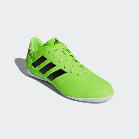 ea2e0e3967 Chuteira Futsal Adidas Nemeziz Messi Tango 18.4 Masculino - Verde ...