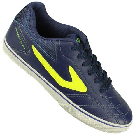 321d06217b52a Chuteira Futsal Topper Dominator III Juvenil Cor Azul Escuro ...