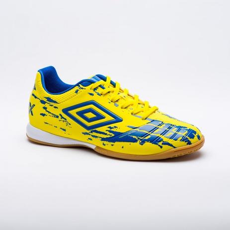 Chuteira Futsal Umbro Accuro ll Club Masculino - Amarelo Azul ... 324413bc5635c