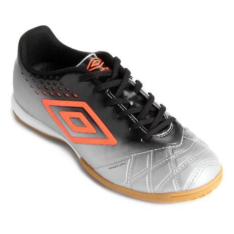 Chuteira Futsal Umbro Fifty Pro Masculino - Cinza Preto - Chuteira ... d194dd9741ed4