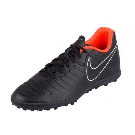 new concept 8579d 1b519 Chuteira Nike Society Tiempo Legendx 7 Club Tf Preto/Laranja