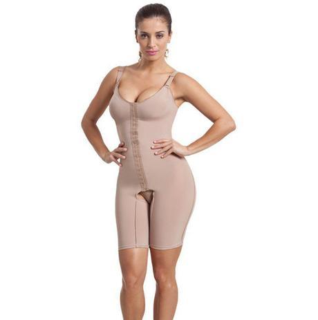 45b78524bb822b Cinta body Modelador compressão macaquinho com perna Esbelt ref. 0106470
