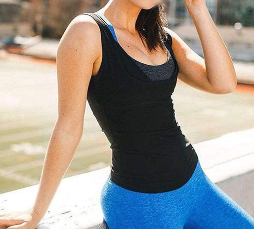 Imagem de Cinta Modeladora Regata Camisa Camiseta Queima Gorduras Barriga Sauna Abdominal Feminina