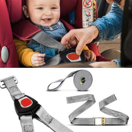 Imagem de Cinto de Segurança Universal Para Bebê Conforto 5 Pontos Ajustável Cinza
