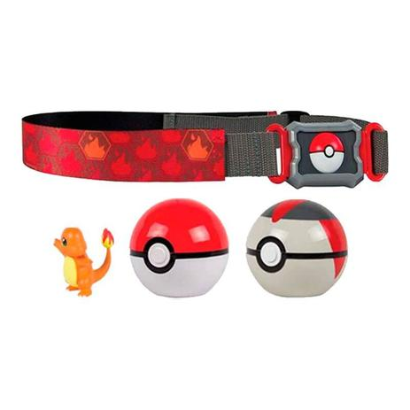 Cinto Pokemon Clip N Carry Com Pokebola Charmander Tomy Sunny