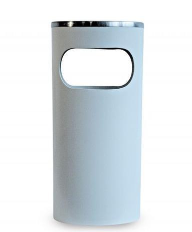 Imagem de Cinzeiro Lixeira em Plastico com Aro em Aluminio