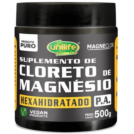 d7a65568e Cloreto de Magnésio Hexahidratado P.A Unilife 500g em pó - Magnésio ...