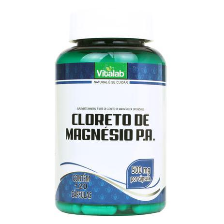 1ef777b57 Cloreto de Magnésio P.A. (500mg) 120 Cápsulas - Vitalab - Magnésio ...