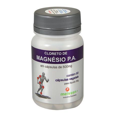25f076551 Cloreto de Magnésio PA 60 cápsulas 500Mg- Meissen - Magnésio ...