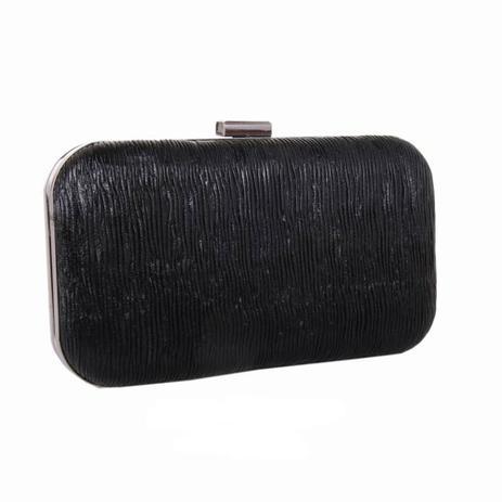 2413a62f0 Menor preço em Clutch Arredondada Textura Franzido Fecho Metal Preta - Zap  Accessories