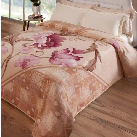 500f1796e7 Cobertor Casal Kyor Plus Montecarlo 1 Peça Microfibra Jolitex Bege ...