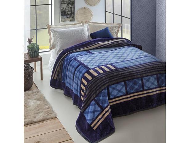eb3f1cfa23 Cobertor Casal Microfibra Dyuri Andorra - 1 Peça - Cobertores e ...