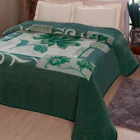 8057f57d82 Cobertor Casal Poliéster Microfibra Malbec Kyor Plus Jolitex Verde ...