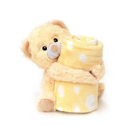 Imagem de Cobertor Com Pelúcia Microfibra Ursinho Amarelo Loaní