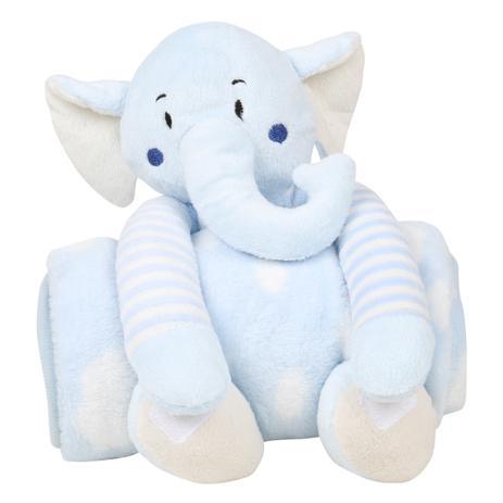Imagem de Cobertor Loani Presentes Menino Com Bichinho Pelúcia Elefante