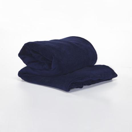 Imagem de Cobertor Manta 2,40 x 2,20 Soft Lisa Casal 1 Pç Azul Marinho